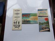 THREE PC. LOT 1949 FLORIDA MAPS, BROCHURES, AND POST CARD ALBUM.