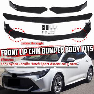 Gloss Black Car Front Bumper Lip For Toyota Corolla Hatch Sport Ascent 2019-2020