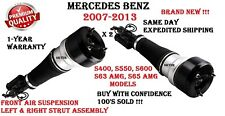 MERCEDES W221 07-13 S400 S550 S600 S63 Front Left & Right Air Strut Assembly SET