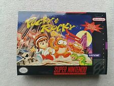 SNES Pocky And Rocky, Custom Art case only, no game included