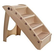 West Ivory Pet 4 Step Stairs Adjustable Portable Washable Ladder Dog Cat