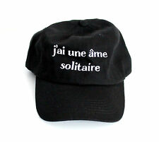 J'ai une ame Solitaire black white Embroidered dad hat Unisex cap Twin Peaks