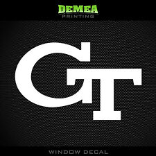 Georgia Tech - Yellow Jackets - NCAA - White Vinyl Sticker Decal 5""