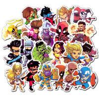 50Pc Marvel Super Hero Deadpool Spiderman Pack Skateboard Laptop Luggage Sticker