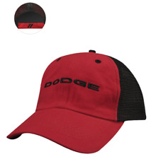 bfcd87a181cbf New Dodge Trucker Cotton Twill Cap Red   Black Baseball Hat Cap One Size  Mopar