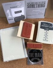Stampin' Up DUDE YOURE WELCOME Stamp Kit(w/ WoodMount Stamps)_Masculine+FREECard