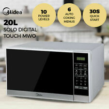 Midea 20L Digital Touch Kitchen Microwave Oven 700W Defrost Child Lock Silver