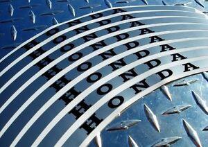 SILVER Honda Rim Stripes CBR F4 F4i VTR RC51 250R 500R 650F 600RR 1000RR CB1000R