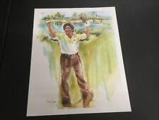 "BEAUTIFUL GOLF LITHOGRAPH PRINT ""LEE TREVINO"" BY MARRY KENYON 1981"