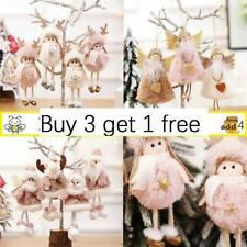 Christmas Plush Angel Gnome Doll Tree Decorations Xmas Hanging Pendant Ornaments