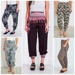 Caroline Morgan Harem Pants Women Casual Baggy Hippie Bohemian Yoga Beach Travel