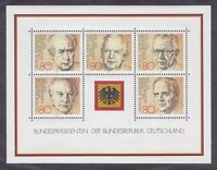 Germany 1384 MNH OG 1982 Former Presidents of Germany Souvenir Sheet
