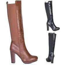 Unbranded Women's Synthetic Leather Knee High Boots