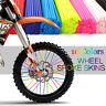Rad Speichen Wraps Kit Felgen Skins Covers Schutzfolie Motocross Dirt Bike ES vf