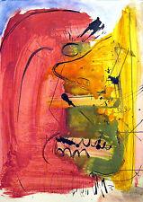 Peinture originale acrylique sur papier - signé - Artiste  FLAVIEN COUCHE