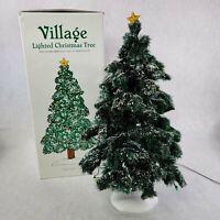 "Department 56 Village Lighted 16"" Christmas Tree Model #52690"