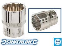 "Silverline Douille Profonde 1//2/"" DRIVE 12 Pt Metric 24 mm 544493"