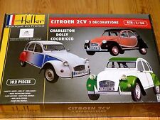 Heller 1:24 Citroen 2CV Coche Modelo Kit
