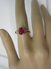 GORGEOUS 14 KT GOLD 2.05 CTW. RUBY AND DIAMOND RING  !!!!!!!!