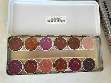 Kryolan #1204 Lip Rouge Palette 12 Color Lipstick Gloss Palette Fashion Class