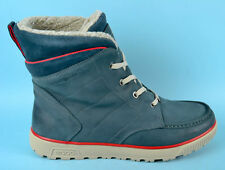 ECCO Syberia Lite WOMENS Leather Shoes Boots Hi Top Sneakers Size 8 UK 42 EU