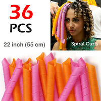 36pcs Magic Long Hair Curlers Curl Formers Spiral Ringlets Leverage Curlers 55cm