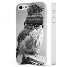 Cute Owl Funny WHITE PHONE CASE COVER fits iPHONE