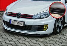 Spoilerschwert Frontspoiler aus ABS für VW Golf 6 GTI GTD ABE schwarz glänzend
