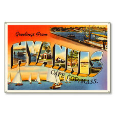 Hyannis Cape Cod Massachusetts Ma Large Letter Postcard Metal Sign Steel 36x24