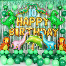 Kids Birthday Party Buntings Decorations Jurassic Dinosaur Theme Party Banners