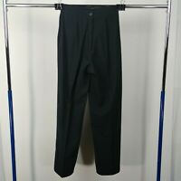 Prive Black High Waisted Pleated Back Casual Career Mom Pants Womens Size 9 / 10
