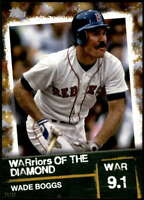 Wade Boggs 2020 Topps WARriors of the Diamond 5x7 Gold #WOD-50 /10 Red Sox