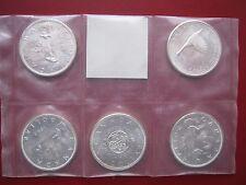 Canadá 1963 1964 1965 1966 1967 5x UNC $1 Colección De Monedas De Plata Moneda Set