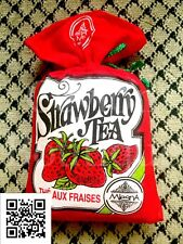 Mlesna Natural Flavored Strawberry Ceylon Tea in Cloth Pouch