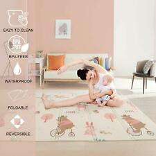 Reversible Extra Large Thick Foam Foldable Non Toxic Waterproof Baby Playmat