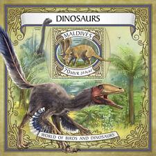 Maldives 2017 MNH Dinosaurs Chasmosaurus Saltasaurus 1v S/S Stamps