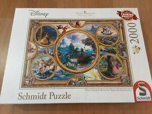 2000 Piece Schmidt Thomas Kinkade Disney Jigsaw- Disney Dreams