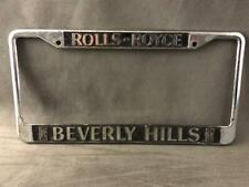 More details for rolls royce beverly hills motor car licence number plate registration surround