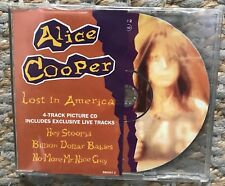 Lost In America, Alice Cooper, Very Good 4 Track Picture Disc CD