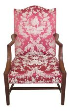 30623EC: Quality Walnut Upholstered Open Arm Lolling Chair