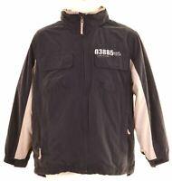 TIMBERLAND Boys Windbreaker Jacket 13-14 Years Navy Blue Cotton  R225