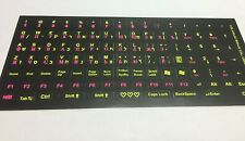 Hebrew  English  Russian letters Keyboard Stickers Glowing in the dark