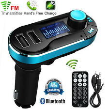 Wireless Bluetooth Car Kit MP3 Player FM Transmitter Radio SD TF Dual USB Charge