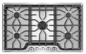 """Frigidaire Gallery 36"""" Stainless Steel 5 Burner Gas Cooktop - Model: FGGC3645QS"""