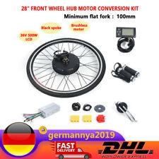 """28"""" 36V 500W Elektro Fahrrad Umbausatz  LCD Vorderrad E-Bike Conversion Kit"""