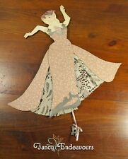 1987 Dee Segula Victorian Lady Pig Pull String Puppet Toy