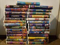 Walt Disney Masterpiece Black Diamond  Collection VHS Lot  of 29