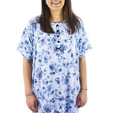 Camicia da notte donna estate in cotone manica corta taglie forti  0DECAM044