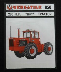 "1973-1977 VERSATILE ""850 4WD 280hp TRACTOR"" SPECIFICATIONS SALES BROCHURE NICE"