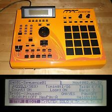 CUSTOM Akai MPC 2000XL SE2 w/YELLOW LEDs BLACK PADS 1GB CF Drive MAX RAM RARE
